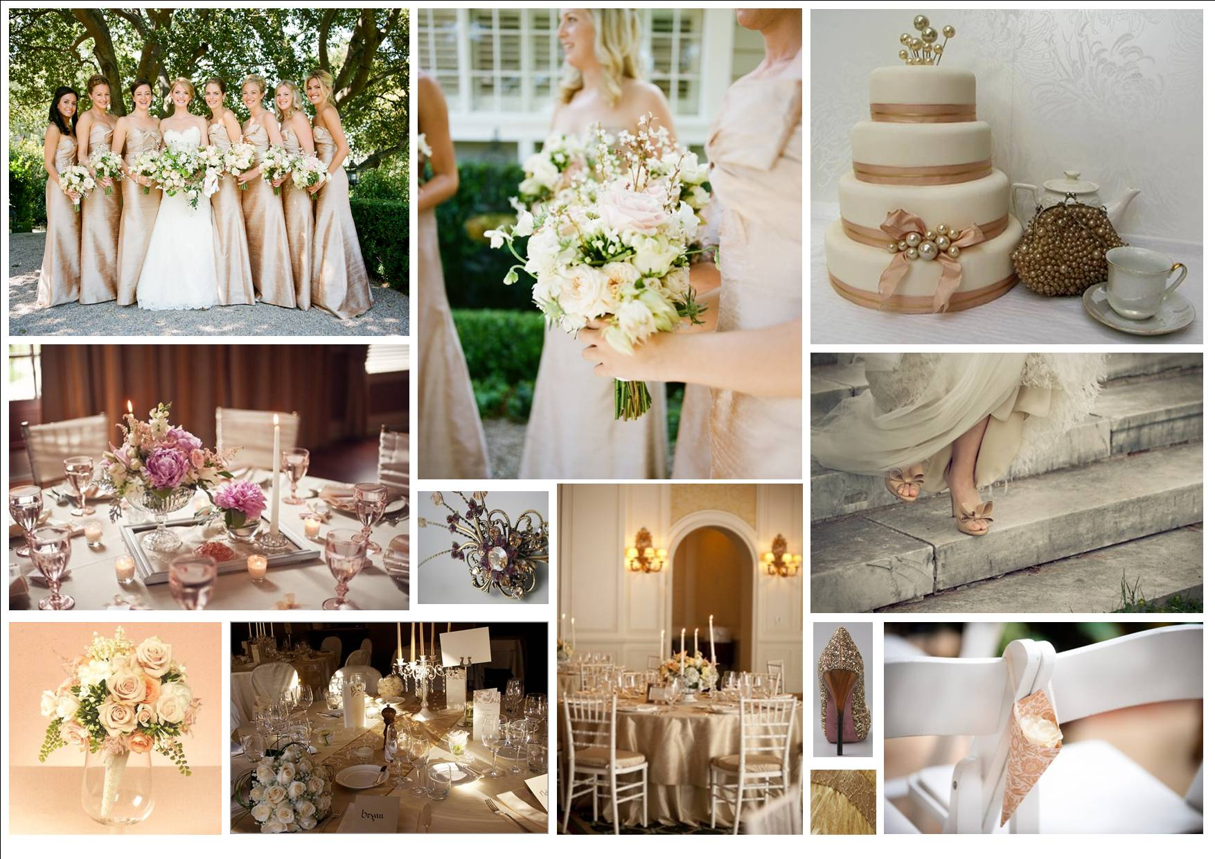 Champagne Wedding Theme Images