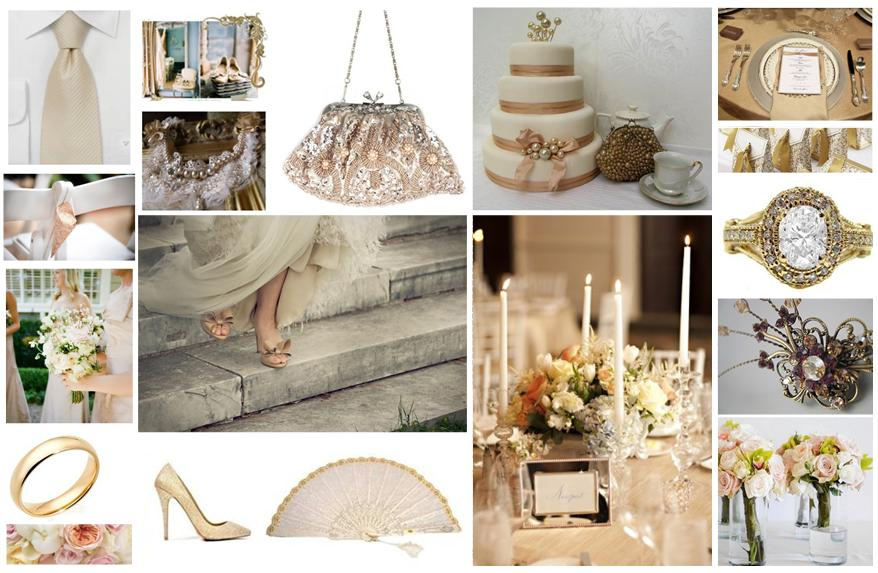 Other ideas for your champagne wedding theme